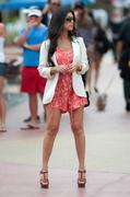 Kourtney Kardashian Takes Her Hot Legs To Lunch with her friend