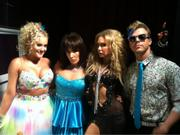 Lacey Schwimmer, Ricki Lake, Kym Johnson, and Derek Hough Rocking The 80's Look For Dancing With The Stars - October 2011